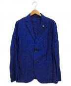 giannetto(ジャンネット)の古着「リネンブレンドテーラードジャケット」|ブルー