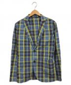 giannetto(ジャンネット)の古着「チェックテーラードジャケット」|マルチカラー