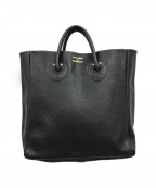 YOUNG & OLSEN The DRYGOODS STO(ヤングアンドオルセン ザ ドライグッズストア)の古着「EMBOSSED LEATHER TOTE」 ブラック