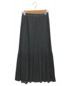 PLEATS PLEASE(プリーツプリーズ)の古着「デザインプリーツスカート」|ブラック
