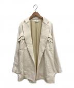 ELIN(エリン)の古着「ダブルポケットオーバーコート」|ホワイト
