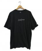 YOHJI YAMAMOTO × NEW ERA(ヨウジヤマモト × ニューエラ)の古着「ロゴ刺繍Tシャツ」|ブラック