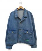 WILLY CHAVARRIA(ウィリーチャバリア)の古着「シルバーレークラペルデニムジャケット」 インディゴ