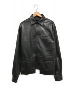 ()の古着「フェイクレザーシャツ」 ブラック