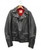 Lewis Leathers(ルイスレザース)の古着「レザーライダースジャケット」 ブラック