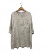 gold(ゴールド)の古着「ヘヴィースヴィンコットンワイドタイダイTシャツ」|グレー