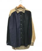AiE(エーアイイー)の古着「ペインターシャツ」 ブラック×ベージュ