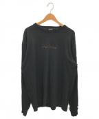 YOHJI YAMAMOTO × NEW ERA(ヨウジヤマモト × ニューエラ)の古着「ロゴロングスリーブカットソー」|ブラック