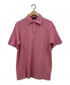 Zanone(ザノーネ)の古着「ボーダーポロシャツ」 レッド
