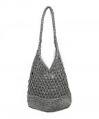 sara mallika(サラマリカ)の古着「メタリックマクラメトートバッグ」|シルバー