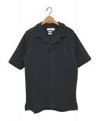 oftt(オフト)の古着「ワッフルオープンカラーシャツ」 ブラック