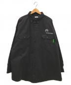 WILLY CHAVARRIA(ウィリーチャバリア)の古着「ビッグダディーボタンダウン」 ブラック