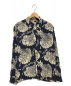 ()の古着「アロハシャツ」|ネイビー×ベージュ