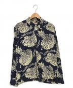 Sun Surf(サンサーフ)の古着「アロハシャツ」|ネイビー×ベージュ