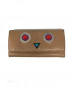 FENDI(フェンディ)の古着「モンスターアイ 二つ折り長財布」|ベージュ