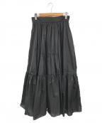 SHE TOKYO(シートーキョー)の古着「2wayギャザースカート」|ブラック