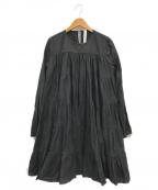 merlette(マーレット)の古着「ティアード コットンドレス」 ブラック