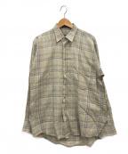 Burberrys()の古着「チェックシャツ」 ベージュ×ブルー