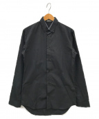 DIOR HOMME()の古着「デニム襟ボタンダウンシャツ」|ブラック