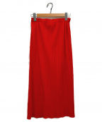 PLEATS PLEASE(プリーツプリーズ)の古着「プリーツスカート」 レッド