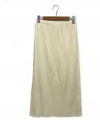 PLEATS PLEASE(プリーツプリーズ)の古着「プリーツスカート」 アイボリー