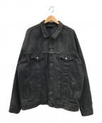 LEVIS()の古着「デニムトラッカージャケット」|ブラック