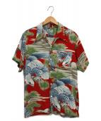 Sun Surf(サンサーフ)の古着「FIRELAND」|レッド×ブルー