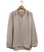 La TOTALITE(ラトータリテ)の古着「スキッパークルミボタンシャツ」|ベージュ