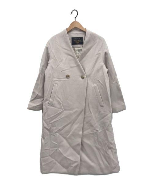 SLOBE IENA(スローブ イエナ)SLOBE IENA (スローブ イエナ) SUPER100モッサVネックコート ベージュ サイズ:36の古着・服飾アイテム