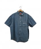 SUPREME()の古着「Invert Denim S/S Shirt」|ブルー