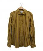 Vivienne Westwood man()の古着「STRIPE CLASSIC SHIRT」 ブラウン