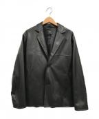 HARE(ハレ)の古着「オーバーサイズ2Bエコレザージャケット」 ブラック