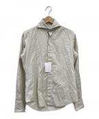finamore(フィナモレ)の古着「シャークカラードビーシャツ」 ベージュ