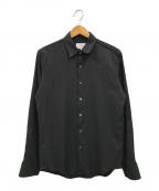Calvin Klein(カルバンクライン)の古着「エアリーヘアラインストライプシャツ」|ブラック