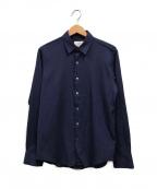 Calvin Klein(カルバンクライン)の古着「エアリーヘアラインストライプシャツ」|ネイビー
