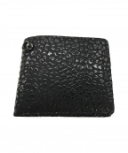 JAM HOME MADE(ジャムホームメイド)の古着「レオパード2つ折り財布」 ブラック
