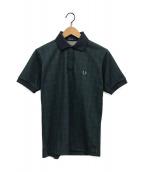 ()の古着「チェックポロシャツ」|グリーン