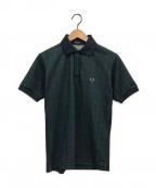FRED PERRY(フレッドペリー)の古着「チェックポロシャツ」|グリーン