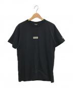 YOHJI YAMAMOTO × NEW ERA(ヨウジヤマモト × ニューエラ)の古着「ボックスロゴTシャツ」|ブラック