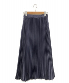 ()の古着「ロングプリーツスカート」|ブルー