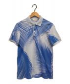 ()の古着「グラフィックポロシャツ」|ブルー