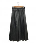 CITY(シティ)の古着「レザーライクプリーツスカート」 ブラック