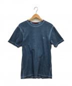 C.P COMPANY(シーピーカンパニー)の古着「I.C.E SMALL LOGO T-SHIRT」|ブルー