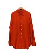AURALEE(オーラリー)の古着「シャトルジョーゼットクロスシャツ」 オレンジ