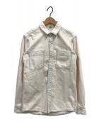 ()の古着「ヴィンテージ加工デニムシャツ」 ホワイト
