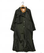 Ameri VINTAGE(アメリヴィンテージ)の古着「バックタックトレンチコート」|カーキ