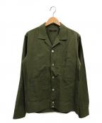 THE GIGI(ザ・ジジ)の古着「シアサッカーシャツジャケット」|カーキ