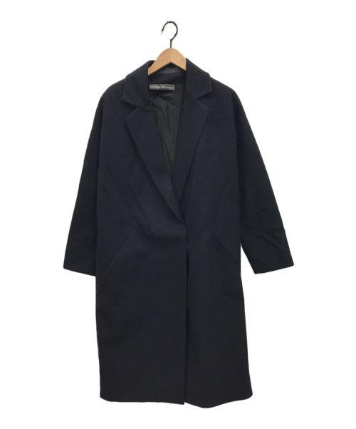 32PARADIS(トラントドゥ パラディ)32paradis (トラントドゥ パラディ) サイドジップカシミヤブレンドチェスターコート ネイビー サイズ:Sの古着・服飾アイテム