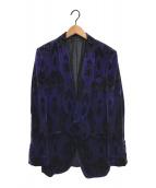 ()の古着「ベロアテーラードジャケット」 パープル