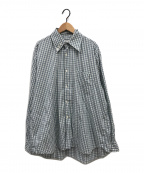 COMME des GARCONS SHIRT()の古着「デザインカラーギンガムチェックシャツ」|ホワイト×ブルー